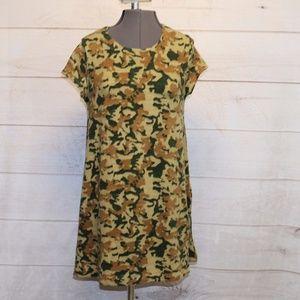 Zara Knit Camo Sweater Dress size Small